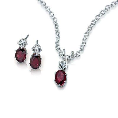 Silver-Plated Pendant and Earring Set