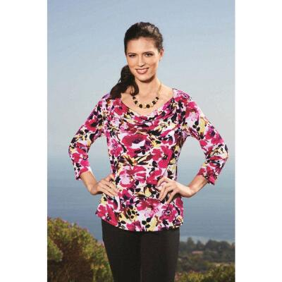 3/4 Sleeve Print Top by Milano