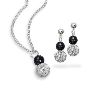 Beaded Pendant & Earrings Set