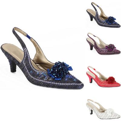 Beaded Cluster Slingbacks John Fashion