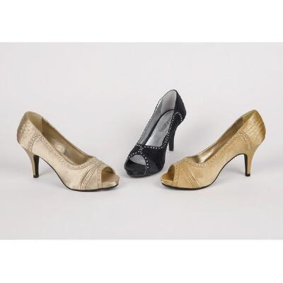 Embellished Peep-toe Pumps by Coup d'Etat Ltd.