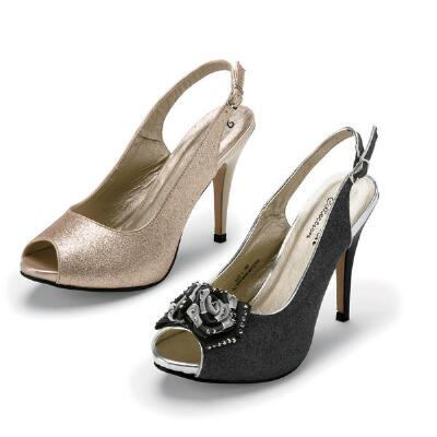 Sleek Peep-toe Slingbacks by J. Loren Collection