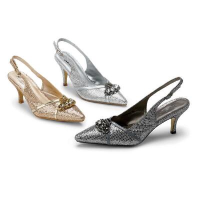 Metallica Slingbacks by J. Loren Collection