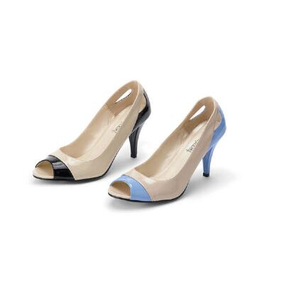 Colorblock Peep-toe Pumps by Coup d'Etat Ltd.