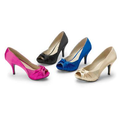 Touch of Elegance Peep-toe Pumps by Coup d'Etat Ltd.