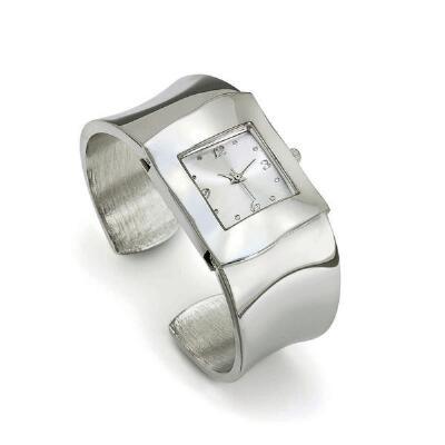 Silver Tone Bangle Watch