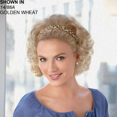 Braided Headband Hairpiece with Wispy Waves by Paula Young®