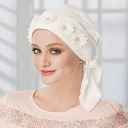 Floral Ornament Turban with Ties