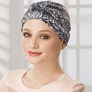 Leopard Print Turban with Ties