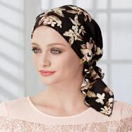 Floral Print Turban with Ties