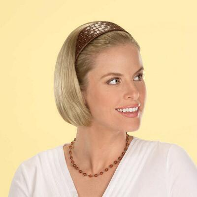 Classic Bob Brown Faux Leather Headband