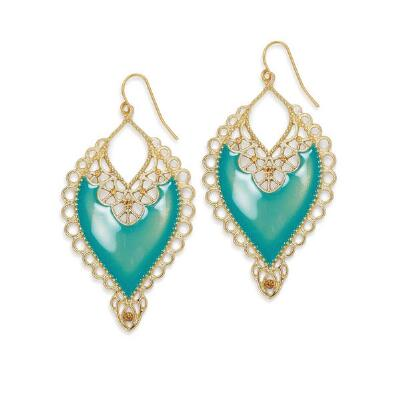 Turquiose Enamel Earrings