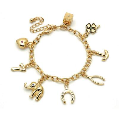 Good Luck Charm Bracelet with Semi-Precious Stones