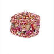 Stone Wire Cuff Bracelet