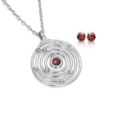 Orbit Pendant Necklace and Earrings Set