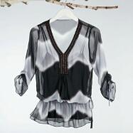Beaded Blouse With Camisole