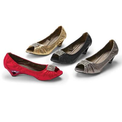 Curvy Peep-toe Pumps by John Fashion™