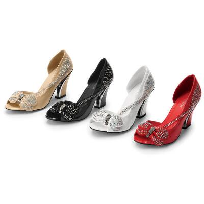 Butterfly Peep-toe Pumps by John FashionT