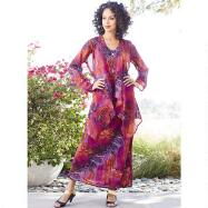 Botanica Georgette Dress and Duster Set