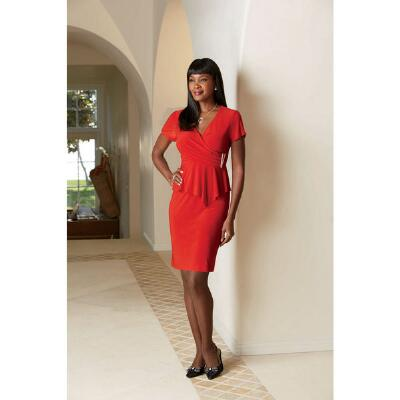 Flattery Faux-Wrap Dress