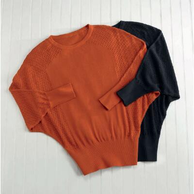 Crochet-Look Knit Top by Milano
