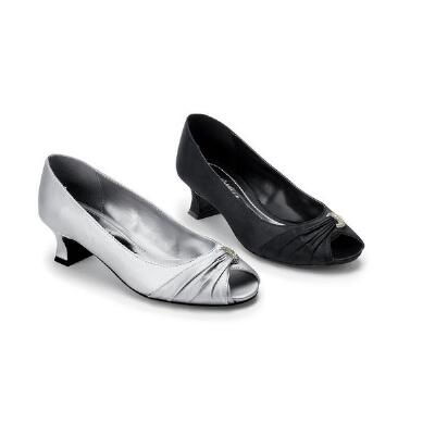 Draped Peep-toe Pumps