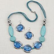 Turquoise Blue Necklace and Earring Set