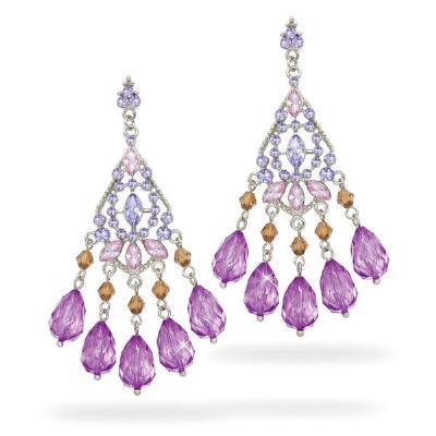 Crystal and Bead Earrings