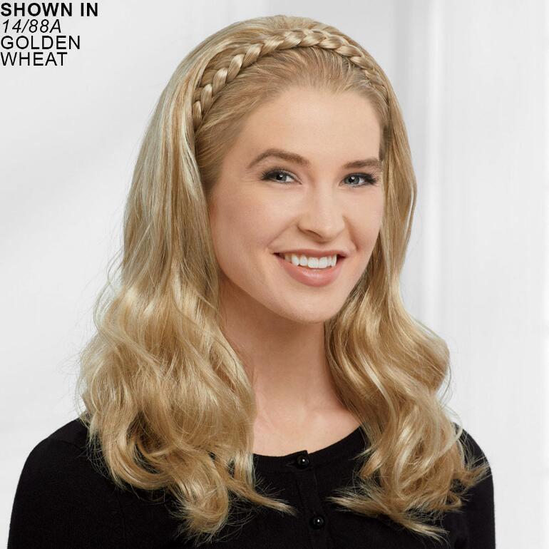 Braided Headband Hair Piece with Long Curls by Paula Young®