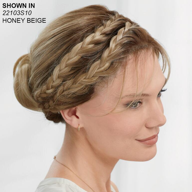 Double Braid Updo Lace Front VersaFiber® Wig by InVogue Collection