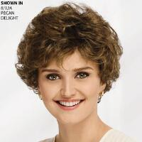 This short, chic, curly wig provides plenty of body while offering airy, breathable comfort. Hand tied front offers a natural look and more stylability. Eyeglass wearers will love the open ear tabs. Extended neck lets you easily tuck away any stray hairs. Easy care synthetic holds its look. Colors remain vibrant. One customer told us: Absolutely beautiful and charming. Perfect for the hostess of the party who has had limited time and still look great Length: 3. 75 Front; 3. 5 Top, Crown and Upper Back; 3 Sides; 2. 5 Nape. Weight: 1. 8 oz.