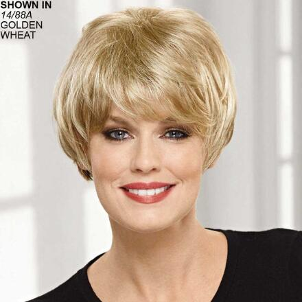 Curlable VersaFiber® Monofilament Short Topper Hair Piece by Paula Young®
