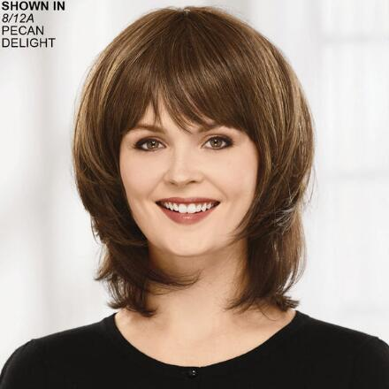 Curlable Mid-Length Topper VersaFiber® Hair Piece by Paula Young®