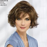 This short, voluminous, no fuss wig is always in fashion, making your days fun and worry free. Open ear tabs allow eyeglasses to be worn through small openings and over the fibers for a natural look, while providing a lighter and more secure fit. The extended neck allows coverage of the nape so you can easily tuck away any stray hairs underneath, while the easy care synthetic holds the style with minimal upkeep. Length:nbsp;3. 5 Front; 6. 5 Top, Crown, Upper Back amp; Sides; 2. 25 Nape. Weight:nbsp;2. 9 oz.