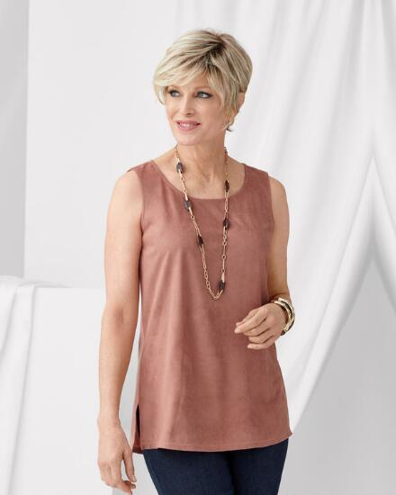 Luxe Faux Suede Shell