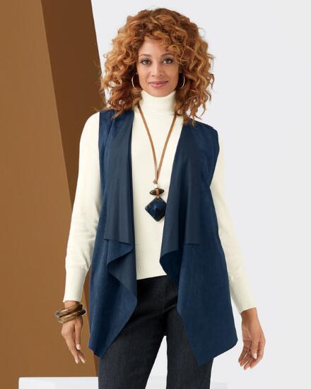 Fashionista Faux Suede Vest