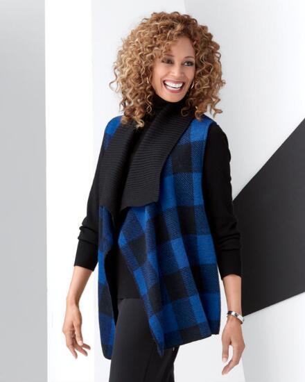 Buffalo Plaid Boiled Wool Vest