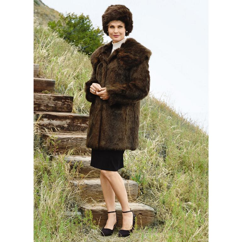 PY Think Mink 2 Jacket and Hat Set