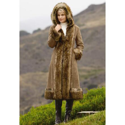 PY Faux-Shearling Long Coat