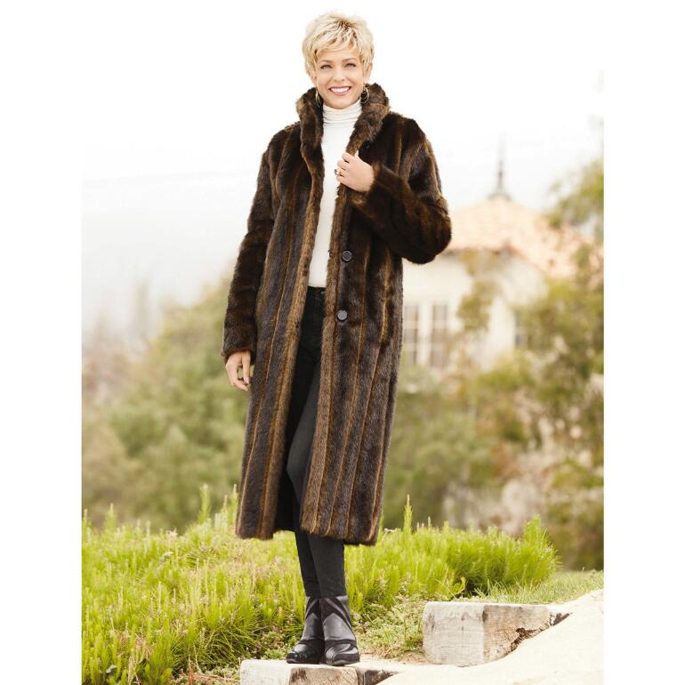 PY Reversible Faux Mink Coat by Luxe EY | Get yours at PaulaYoung ...